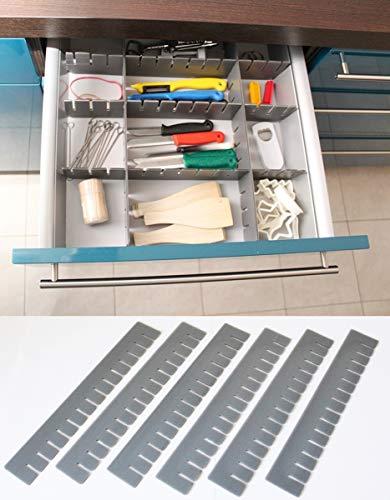 Unbekannt 30 Stück Schubladeneinteiler Schubladenteiler Fachteiler Grau Zuschneidbar