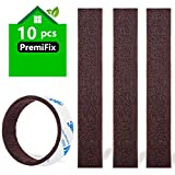 Felt Strips 10Pieces Pack 1'x 6' Self Adhesive Brown Furniture Felt Strips Anti Scratch Heavy Duty 5mm Thick Floor Protector for Rocking Chair for Hardwood Floor