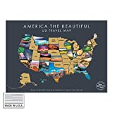 America The Beautiful USA Scratch Off Map- Interactive Travel Scratch Off Poster Reveals Beautiful Nature Photography of Each 50 States - Travel Poster - Great Gift for Adventurers (Grey)