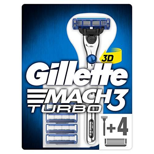 Gillette Mach3 Turbo 2D scheerapparaat + 5 reservemesjes