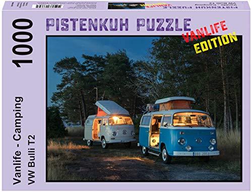 PISTENKUH Puzzle - Vanlife Edition - VW Bulli T2 - Camping - 1000 Teile