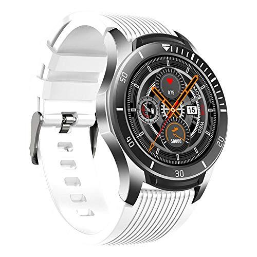 Smart Watch 1 28 pulgadas Super Round Touch Screen Multifuncional Reloj inteligente para movimiento de sueño y podómetro para Android y Ios-Negro y azul-F
