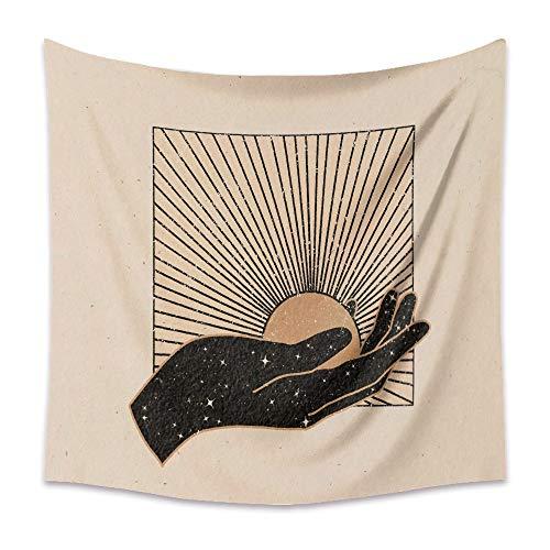 Retro Mond Tapisserie Mandala Tarot Karte Wandteppich Boho Berg Wand hängen Wandteppiche Schlafzimmer Wohnheim Roomn Wanddekoration A22 200x180cm