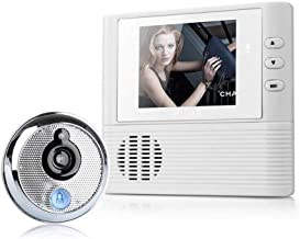 Daqin Video Doorbell, HD Smart Wireless Walkie-Talkie Smart Doorbell, Peephole Viewer Camera+Door Bell Function, Support to Save Picture Remote doorbell kit (Color : Black)