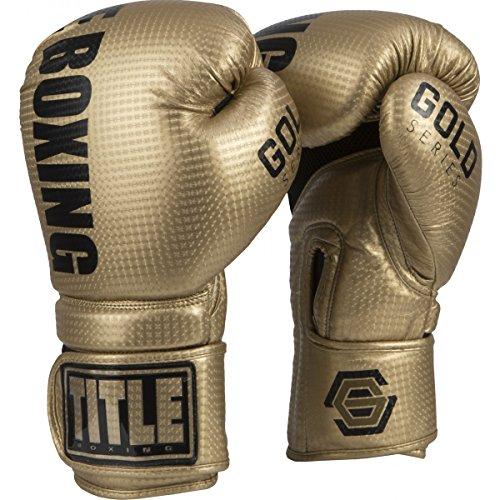 Title Gold Series Surpass Bag Gloves, Gold, 16 oz