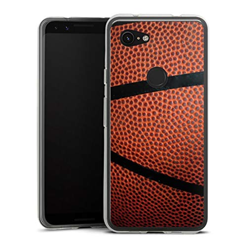 DeinDesign Silikon Hülle kompatibel mit Google Pixel 3a Hülle transparent Handyhülle Ball Basketball Sport