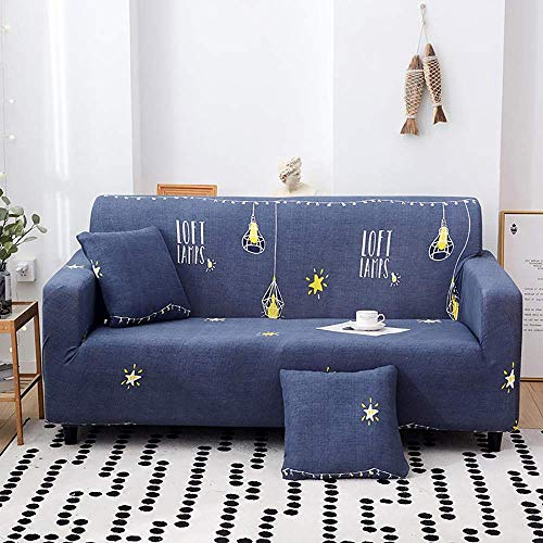 AGGF Fundas elásticas para sofá 1 2 3 4 plazas Protector de Muebles Funda para sofá 1 Pieza con una Funda de Almohada Four Seasons Universal Suave y cómodo