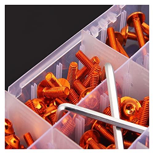 Plum Blossom yu Tornillos de Carga de Motocicleta Tornillos de Parabrisas Cuerpo Perno de Resorte Kit Fit para Suzuki GSXR GSX R 600 750 1000 K1 K2 K3 K4 K5 K6 K7 K8 K8 (Color : Orange)