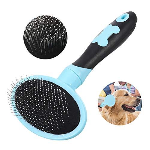 Angelikashalala Hundebürste Katzenbürste Zupfbürste für lose Haare und abgestorbenes Fell, beseitigt Verfilzungen, Haustierpflege, passend für kleine und mittelgroße Katzen und Hunde