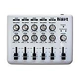 Maker hart Loop Mixer 5チャンネルステレオ音声ミキサー (シンプル, 白い)