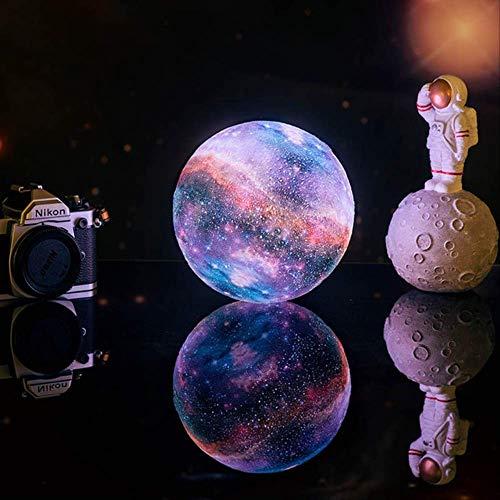 Lampada Luna 3D Stampa Stampa Lampada Galaxy Come Lampada Lunare Migliori Luci Natalizie Luce Notturna In Camera Luce Stellare Decorazione Della Luce 15 centimetri-5.90inch