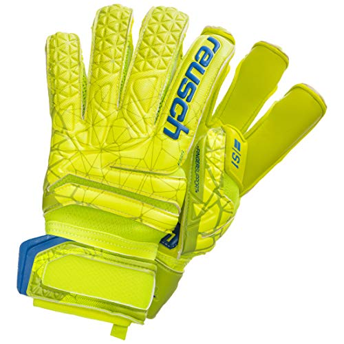 Reusch Herren Fit Control S1 Evolution Finger Support Torwarthandschuhe, Lime/Safety Yellow, 9.5