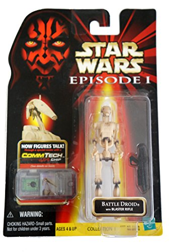 Star Wars Episode 1 Figure Battle Droid Clean Comm-Tech