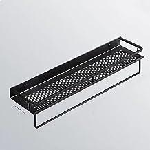 LOPIXUO Badkamer plank 1 stks Badkamer Zwarte Ruimte Aluminium Plank Cosmetische Rek Wandmontage Keuken Kruiderij Fles Opb...
