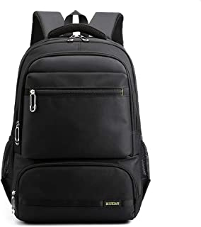 Men Fashion Trend Student School Bag Female High Capacity Computer Backpack Leisure Travel Backpack ; (Color : Yellow, Size : Free Size)