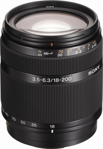 Sony DT 18-200mm f/3.5-6.3 Aspherical ED High Magnification Zoom Lens for Sony Alpha Digital SLR Camera