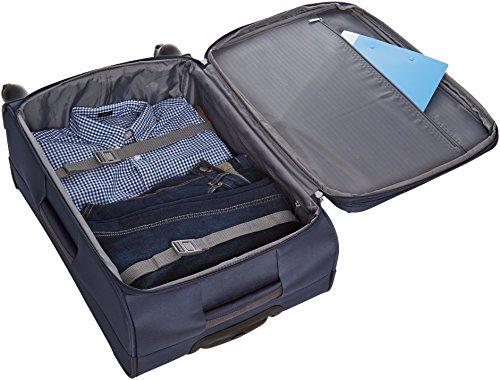 AmazonBasics Softside Spinner Luggage Suitcase - 25 Inch, Navy Blue