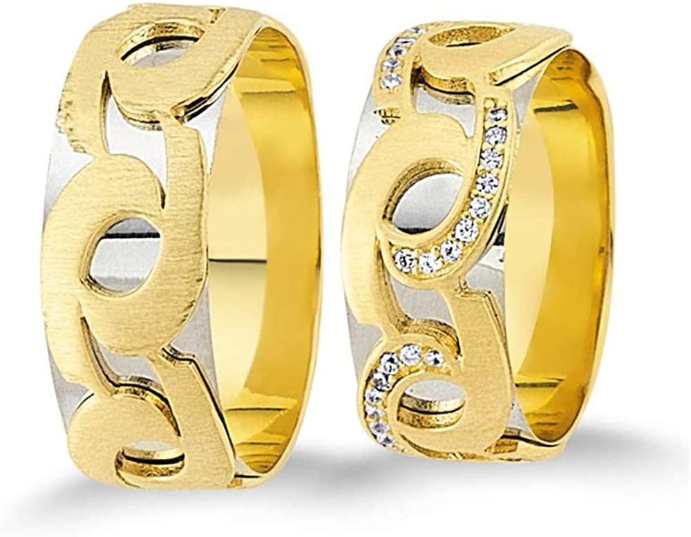 Anelise 14K Real Solid Yellow White Fine Wedding Gold Sale Arlington Mall price 1069 Band