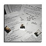 Yzy Póster de 17 álbumes, póster de rapero Xxxtentación, lienzo artístico y arte de pared, impresión moderna, decoración de dormitorio familiar