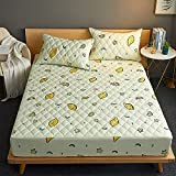 BOLO Protector de colchón impermeable a prueba de polvo, acolchado grueso y cálido, colcha lavable en relieve para el hogar, sábanas acolchadas e impermeables con, 180 x 200 + 25 cm