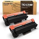 [con Chip] STAROVER TN-2420 TN2420 Cartucho Tóner Compatible para Brother MFC-L2710DN MFC-L2710DW MFC-L2730DW MFC-L2750DW DCP-L2550DN DCP-L2530DW DCP-L2510D HL-L2375DW HL-L2370DN HL-L2350DW (2Negro)