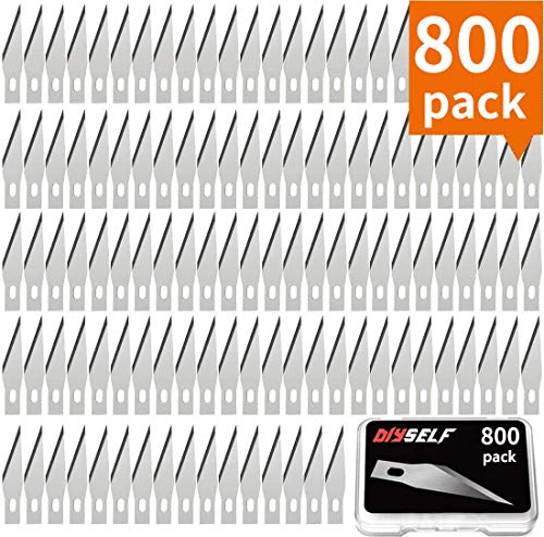 800PCS Hobby Blades Set in Storage Case #11 Replacement Craft Knife Blades for Crafting and Cutting Carving Scrapbooking Art Work Cutting