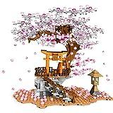 Rawikan Bloques santuario escaleras con modelo de luz, bloques de construcción para niños (compatibles con Lego) 647 piezas