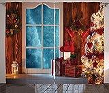 ABAKUHAUS Navidad Cortinas, Casa congelada Nevado, Sala de Estar...