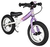 BIKESTAR Bicicleta sin Pedales para niños y niñas | Bici 12 Pulgadas a Partir de 3-4 años con Freno | 12' Edición Sport Violeta y Blanco