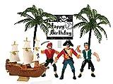 Cakesupplyshop Pirate Ship Pirate Revenge Happy Birthday Sign Mini Cake Decoration Cake Topper