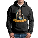 VenC Men's Hooded Sweatershirts Hoodies Ronda Rousey DBZ Black XL