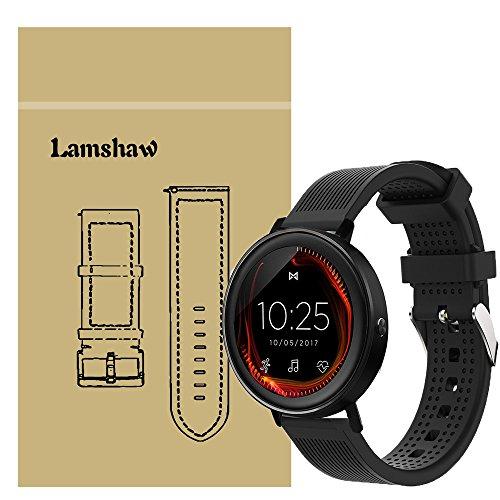 LvBu Armband Kompatibel Für Misfit Vapor/Misfit Vapor 2, Sport Silikon Classic Ersatz Uhrenarmband Für Misfit Vapor/Misfit Vapor 2 Smartwatch (Schwarz)
