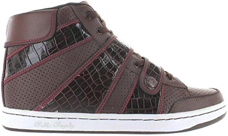 Public Royalty Zap Hi - Brown High-Top Sneaker
