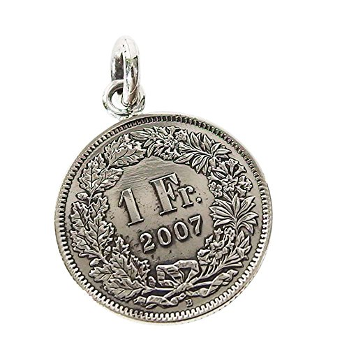 本物のスイスのコインペンダント(1) コイン 硬貨 アクセサリー メンズ レディース 海外