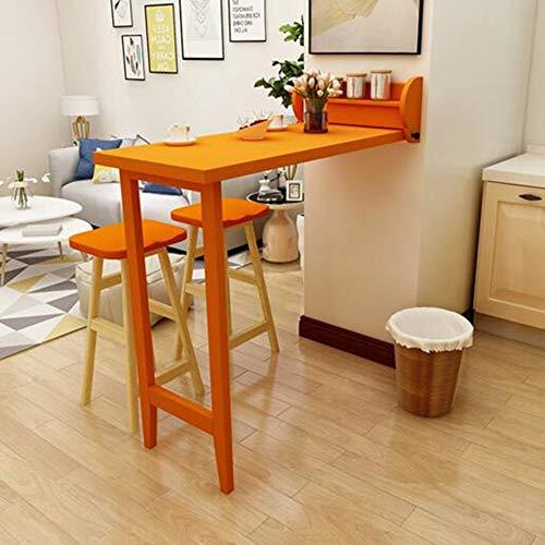 Mesas Auxiliares de Casa Mesa de Pared Plegable Mesa de Cocina Cocina Actividad Creativa Mesa Colgante de Pared Pequeño Apartamento Mesa de Computadora, BOSS LV, naranja, Mesas