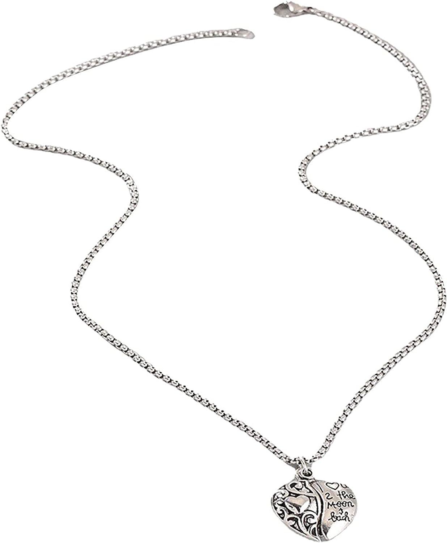 SKOLL Women's Locket Necklace Heart Pendant Necklace Memorial Album Necklace Titanium Steel Hidden Message Pendant