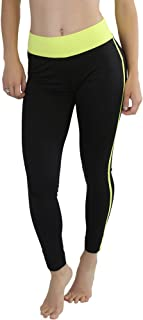 ToBeInStyle Women's Comfy Ankle-Length Polyester Blend Yoga Pants with Stripe