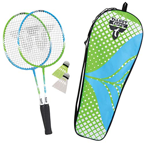 Talbot Torro - Set da Badminton per Bambini, 2 attacchi Junior, 2 Racchette accorciate, 53 cm, 2 volani, Set da Badminton, 449401, 2-Attacker Junior 4