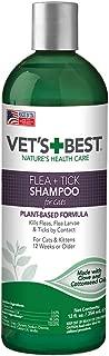 Vet's Best Flea & Tick Shampoo for Cats | Premium Shampoo & Cat Flea Treatment | 12 oz