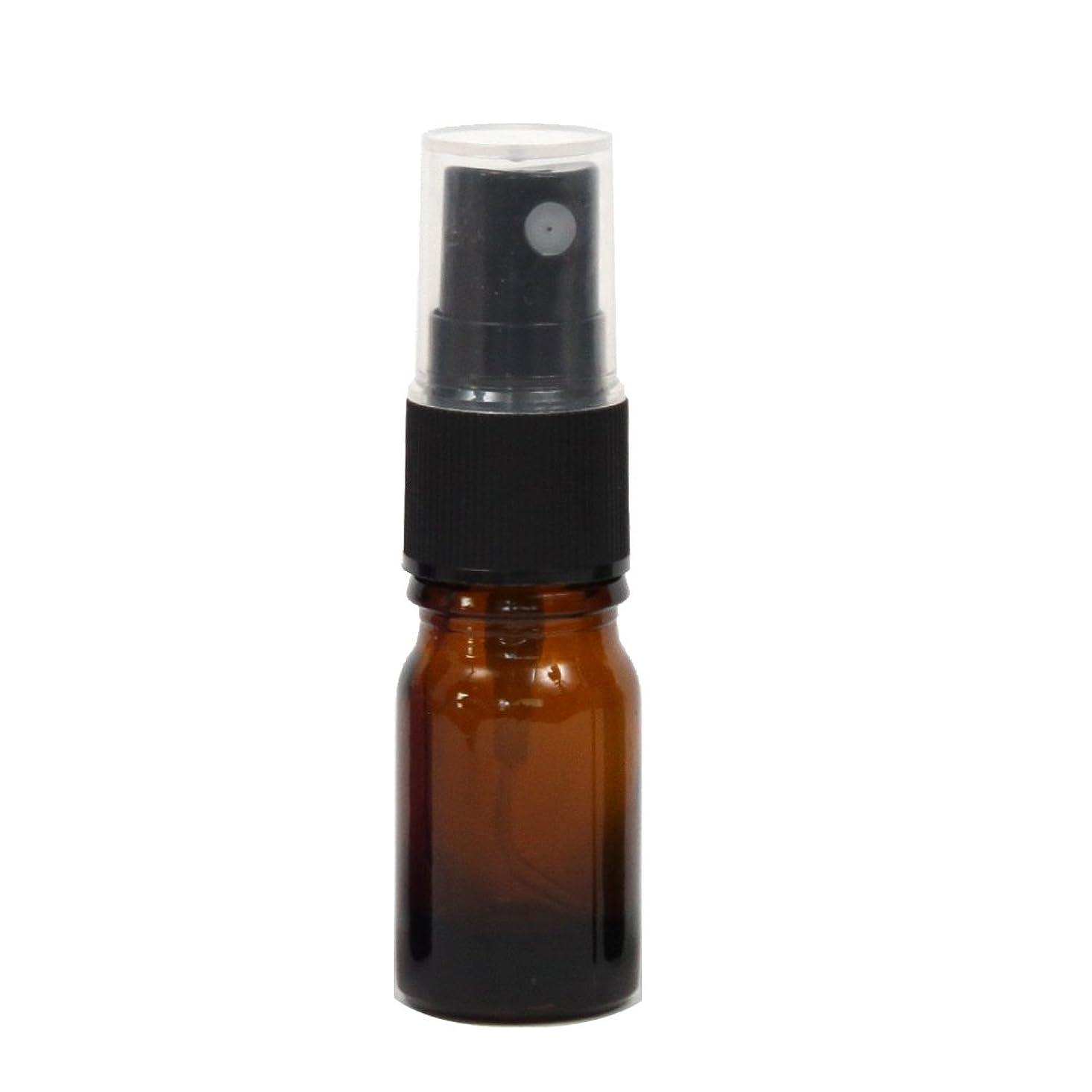 山積みの株式会社日付付きスプレーボトル ガラス瓶 5mL 遮光性ブラウン(アンバー) おしゃれアトマイザー ミスト空容器