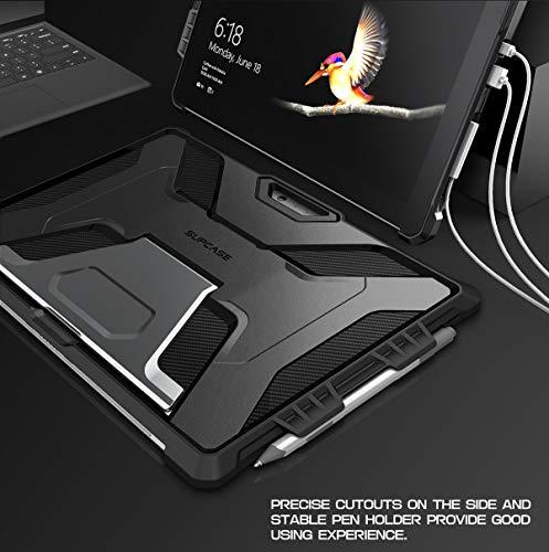SUPCASE Hülle für Surface Pro 7 Plus / Pro 7/ Pro 6 / Pro 5 / Pro 4 / Pro LTE Schutzhülle [Unicorn Beetle Pro] mit Pencil Halter und Ständer, Schwarz