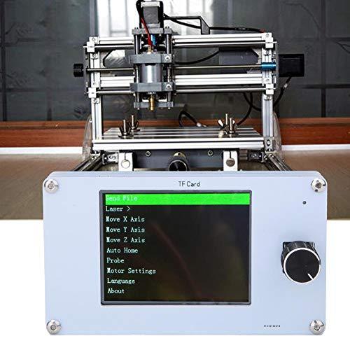 CNC-Steuerplatine, 3-Achs-Fräser Gravurfräsmaschine Steuerungs-Bewegungssteuerungssystem mit Bedienfeld 12V/5V für die Holzbearbeitung DIY, Mini-CNC-Holzfräser-Graviermaschine