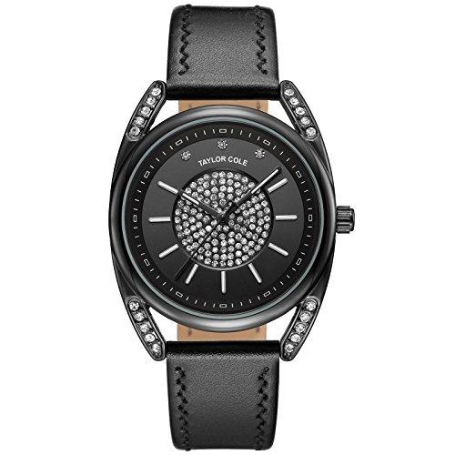 Taylor Cole TC140-Elegante orologio da polso al quarzo, cinturino da polso in acciaio inossidabile