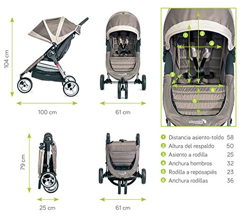 Baby Jogger City Mini 4 – Buggy Denim Negro Baby Jogger  2
