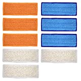 Neutop 9 pcs Washable Mopping Pads Replacement for iRobot Braava Jet 240 241 245 250 with 3pcs Wet Mopping Pads 3pcs Damp Sweeping Pads 3pcs Dry Sweeping Pads