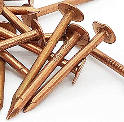 """1-3/4"""" - Copper Roofing/Slating nails - 100% Pure Copper nails (100) from Antique Hardware Depot"""