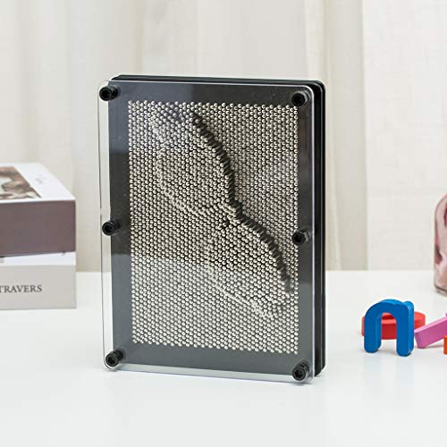 QVIVI Extra Große 3D Kunst Metallstifte Impression Klassische Pin Art 3D Skulptur Neuheit Retro Spaß Desktop Spielzeug Geschenk für Kinder Größe 25 * 20 cm