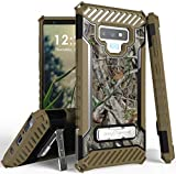 Galaxy Note 9 Case, Autumn Camouflage Tree Leaf Real Woods Rugged Hunting Camo Cover [with Metal Kickstand + Wrist Strap Lanyard] for Samsung Galaxy Note 9 (SM-N960)