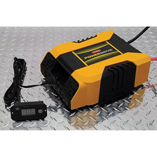 PowerDrive PD2000 2000 Watt Power Inverter with Bluetooth, Yellow