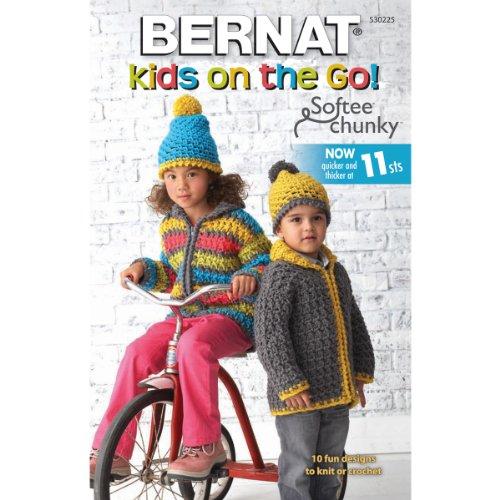 Spinrite Bernat Knitting and Crochet Patterns, Kids on The Go Softee Chunky